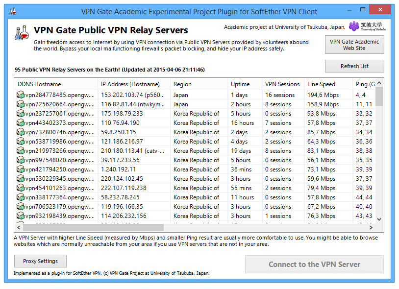VPN Gate Client Plugin