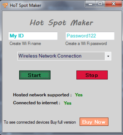 Wireless Hotspot Maker