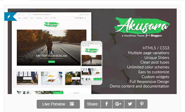 Akusara - Multipurpose Blog Theme – Akusara - Multipurpose Blog Theme – сегодня бесплатно