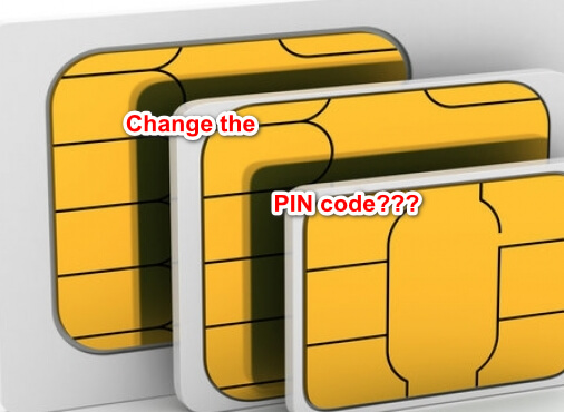 change the PIN code