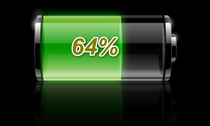 How to show battery charge in percent