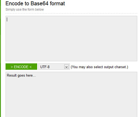 Encode to Base64 format
