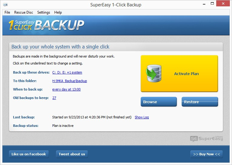 SuperEasy 1- Click Backup