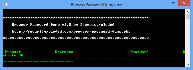 Browser Password Dump